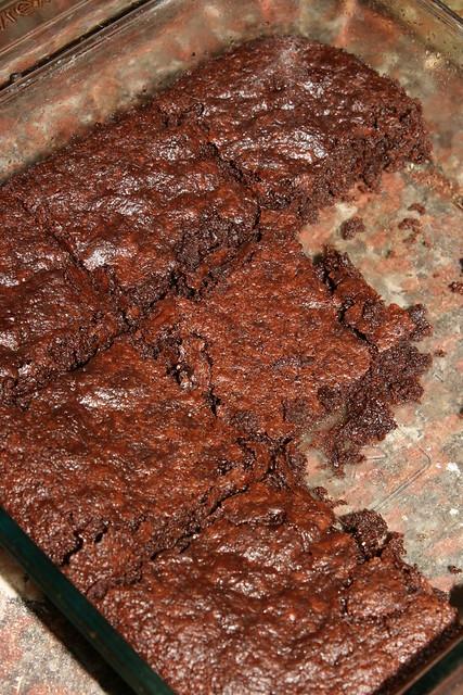 fudgey okara brownies