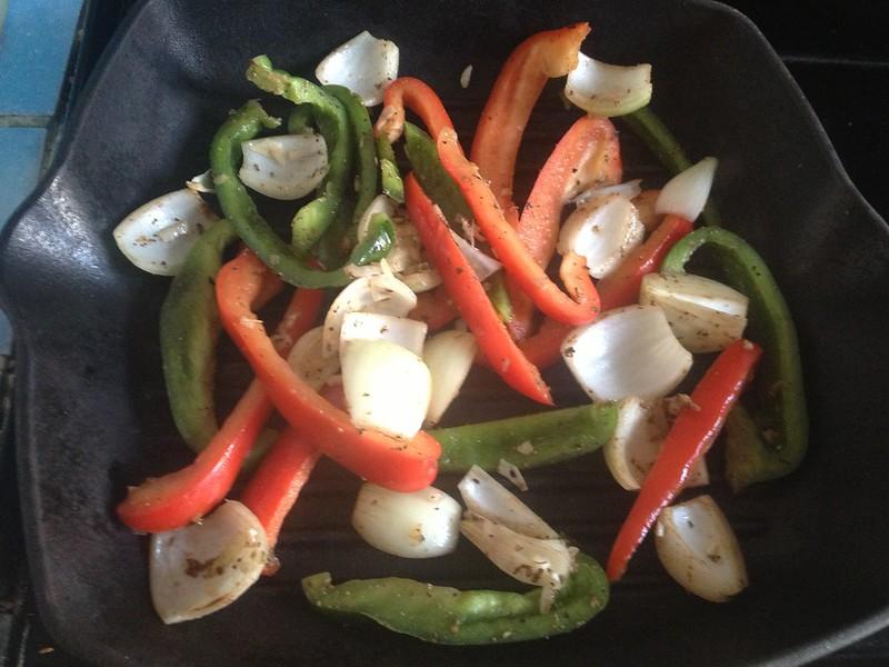 Beef Fajitas : Griddle the Vegetables