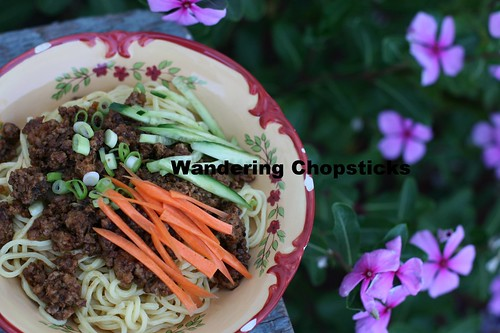 Zha Jiang Mian (Chinese Fried Sauce Noodles ie. Chinese Spaghetti) 11