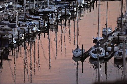 water reflections boats diagonal yachts sausalito caarchives