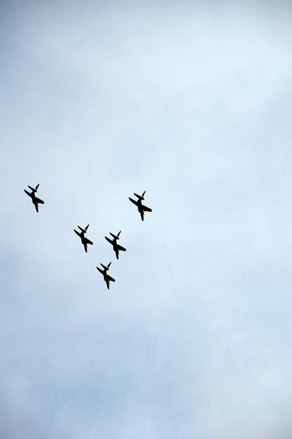 ブルーインパルス展示飛行(SAYONARA国立競技場) @SHIBUYA_011