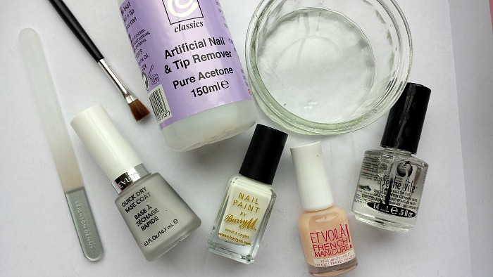 DIY French Manicure Tools