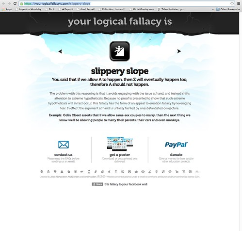 Your Logical Fallacy Is ... Slippery Slope