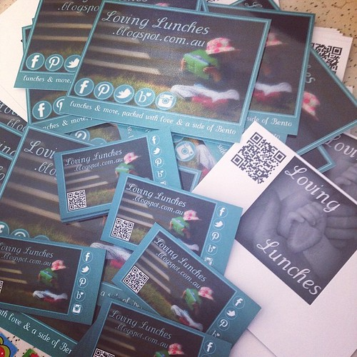 Loving mail… just got my new postcards and business card magnets. Yay!