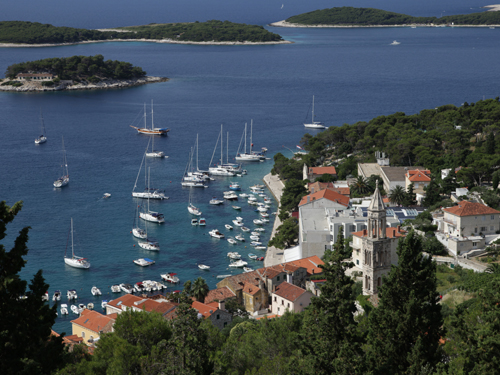 Hvar port view
