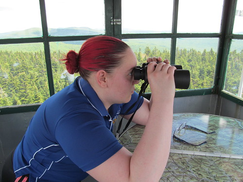 Cathy in the fire tower