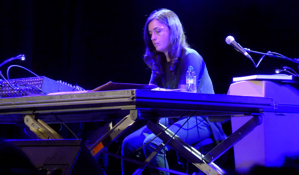 liz harris sitting at a keyboard