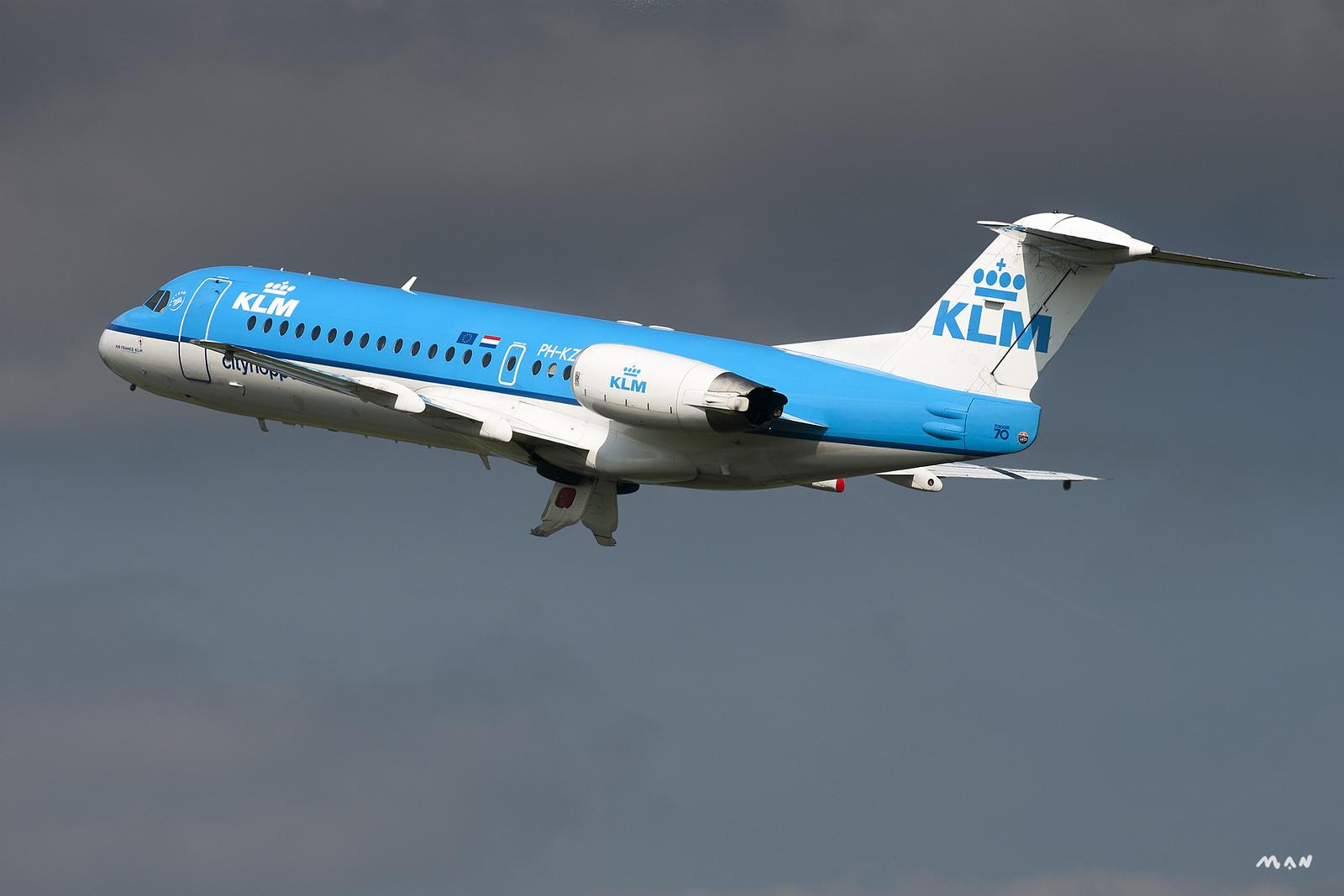 KLM Fokker70 PH-KZV EHAM
