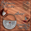 AZE Bedouin Sands Earrings & Nosering Set Silver