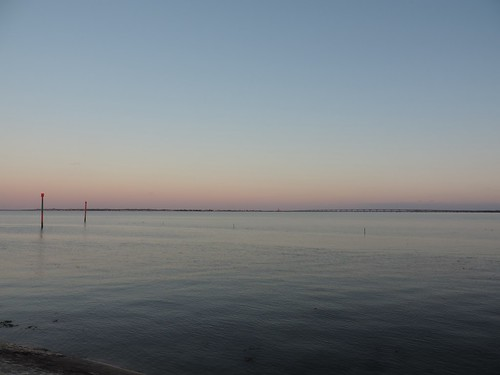 Twilight over the estuary