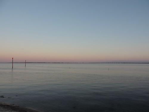 Twilight over the estuary