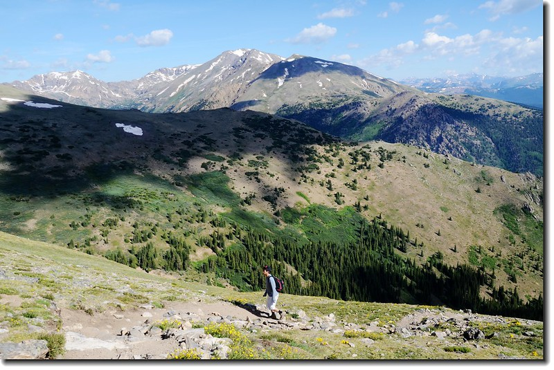 Matthew on his way up Mt. Elbert 1