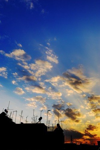 city sunset summer sky shadows hdr karditsa