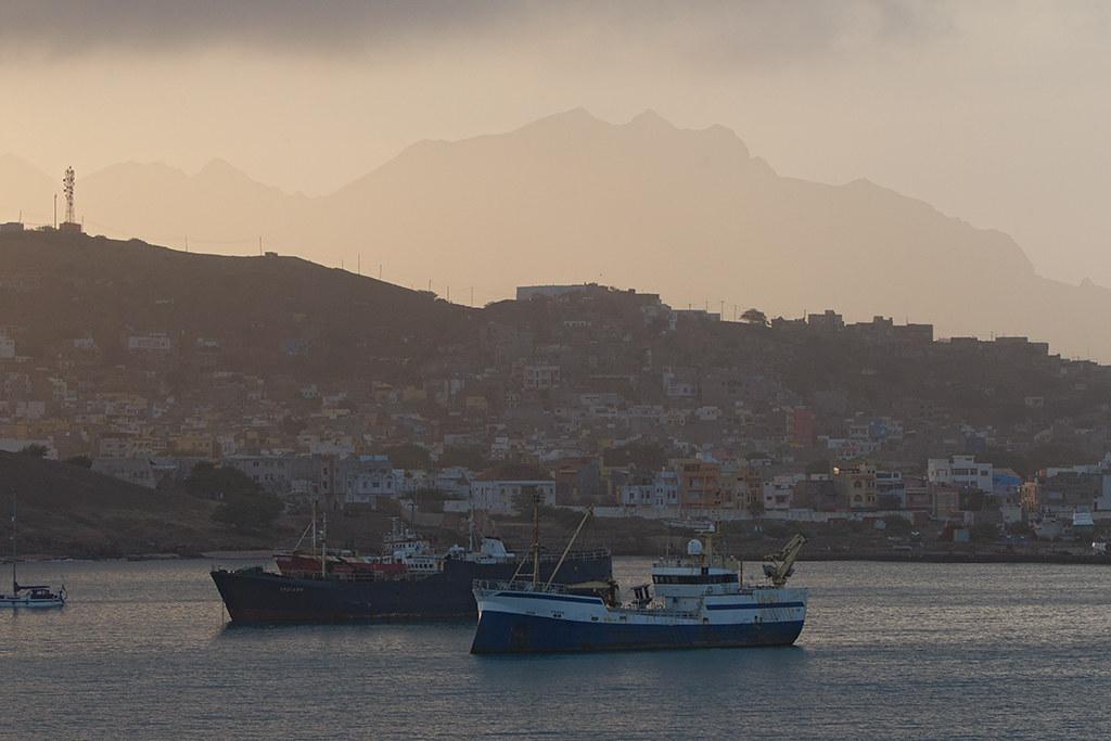Cape Verde dawn arrival 2014-01-15