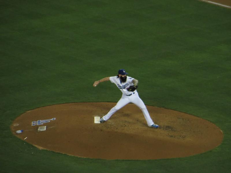 Brian Wilson, St. Louis Cardinals 0, Los Angeles Dodgers 0, Dodger Stadium, Los Angeles, California