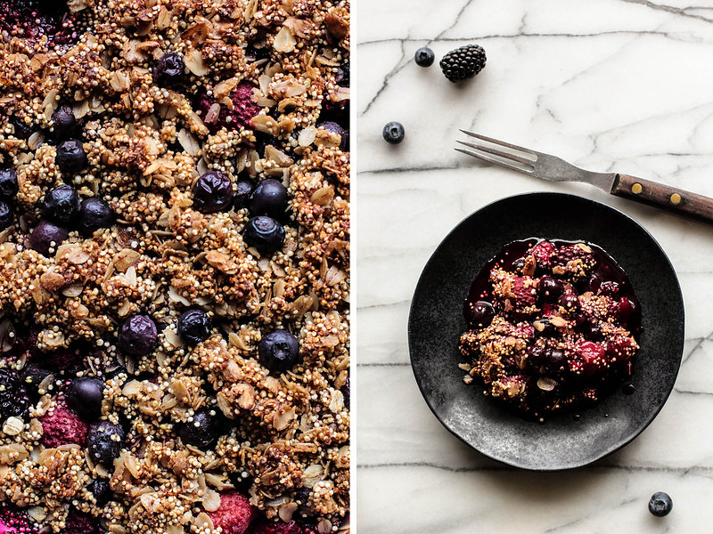 Mixed Berry Quinoa Crumble