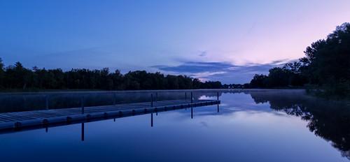 longexposure sunrise dawn pier mississippiriver riversidepark carletonplace 100xthe2014edition 100x2014 image53100