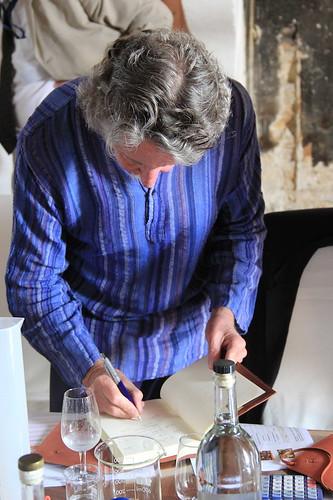 Gaz Regan records his thoughts on his experiments
