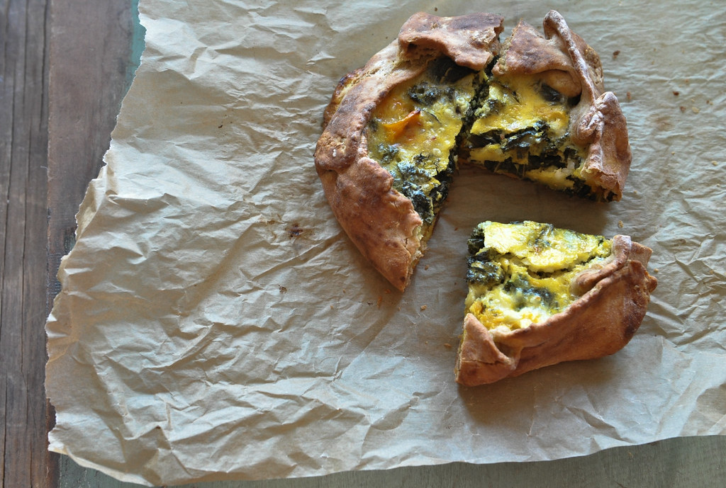 Kale & Roasted Squash Tart