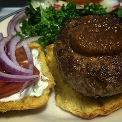 meal, lunch, breakfast, steak, hamburger, meat, salisbury steak, food, dish, cuisine,