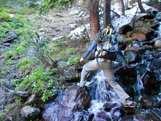 Doug Crossing a Stream