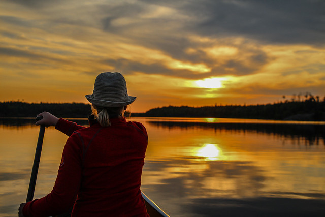 Summer sunset in the boundary waters.