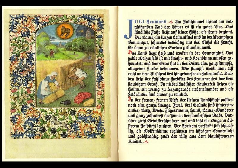 Monat Juli Heumond Stundenbuch Flämisch Bekränzter Jahrenslauf Kalender