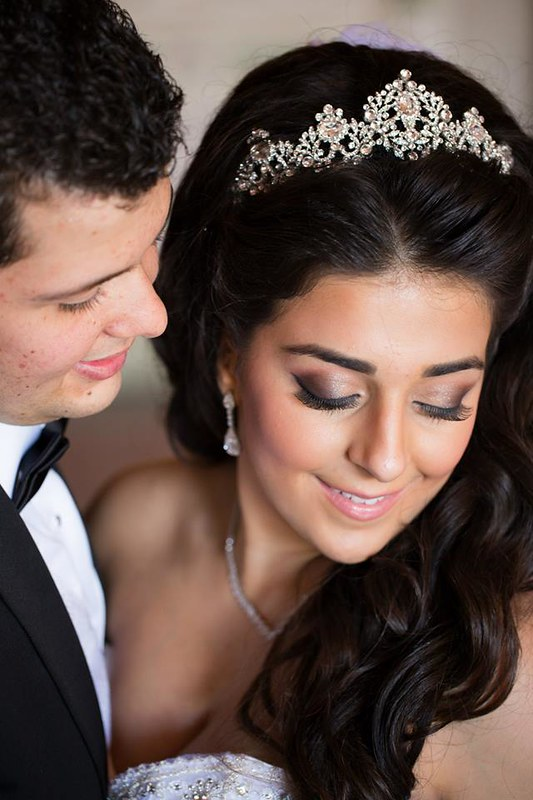 Mirseda wearing a crystal tiara by Bridal Styles Boutique