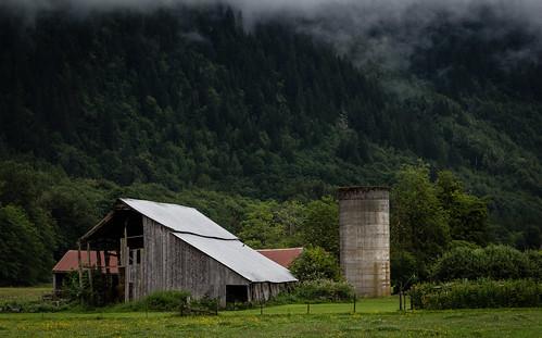 wood green clouds barn concrete washington unitedstates silo delapidated cascademountains northcascadehighway