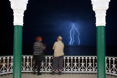 Lightning over Brighton
