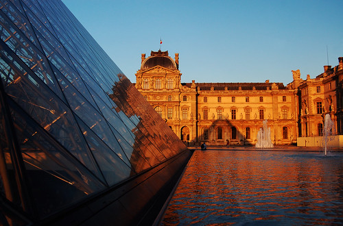 sunset paris louvre impei