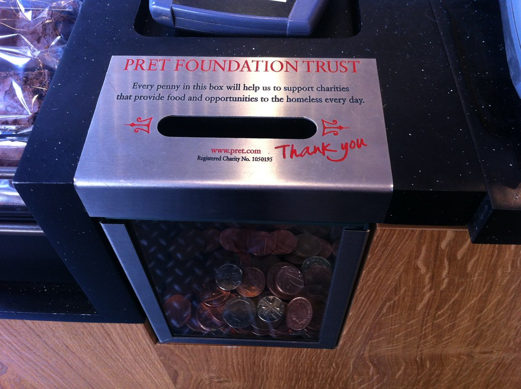 Pret Foundation collecting box