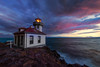 Lime Kiln Lighthouse During Storm