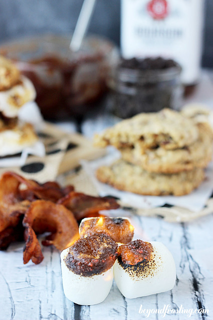 Bourbon Bacon S'mores Cookies | beyondfrosting.com | #smores