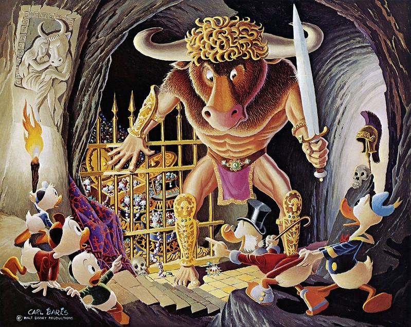 Carl Barks - Cave of the Minotaur, 1975