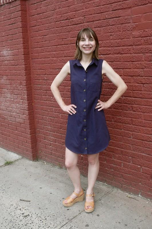 Grainline Studio Alder Shirtdress | Ginger Makes