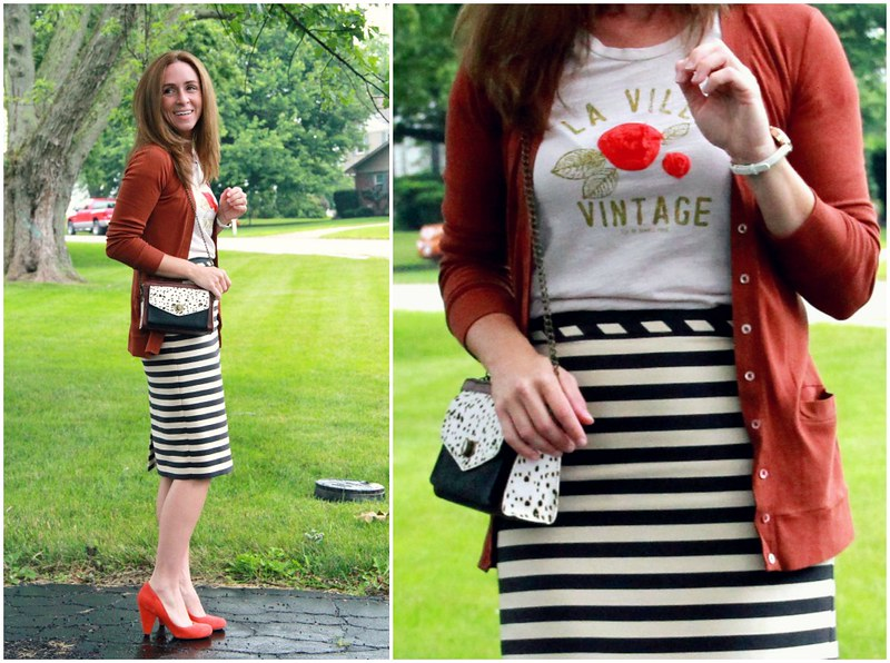 what to wear with a midi pencil skirt via Kristina J blog
