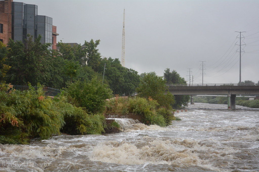 South Platte running very high through Denver Wednesday