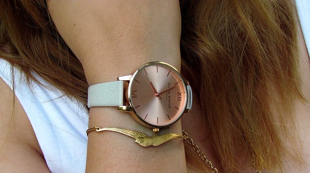 Olivia Burton Big Dial Watch Ginger Pickle Bird Bracelet