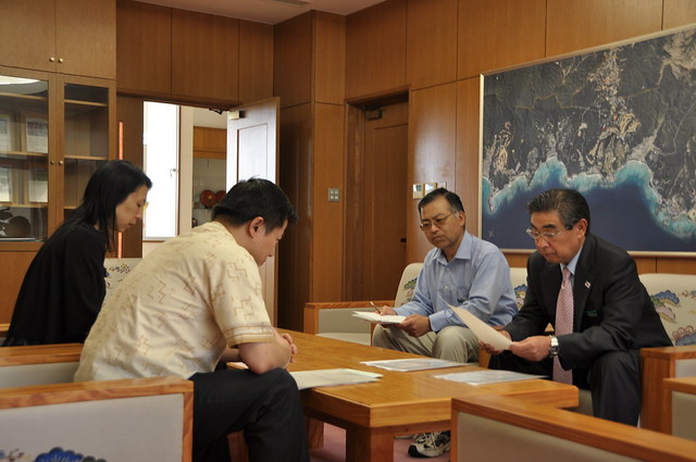 Photo:Mayor of Onna Mr. Fumiyasu Shikiya By OIST (Okinawa Institute of Science and Technology)