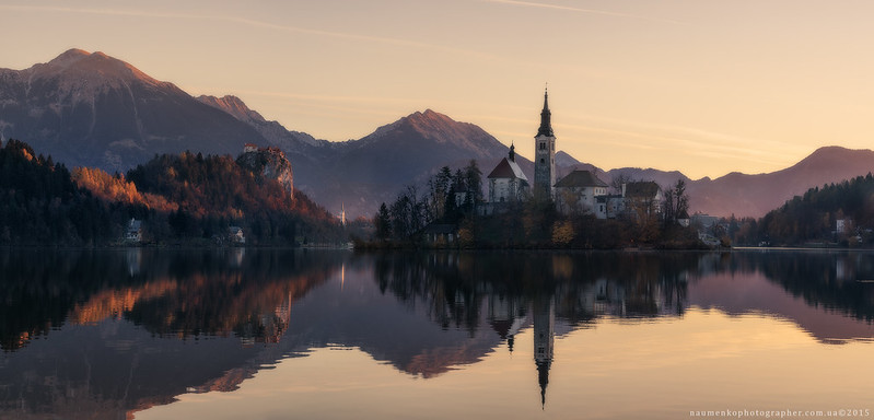 Slovenia. Morning at Lake Bled