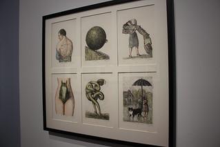 Frontispices pour le tirage de tête des Oeuvres romanesques de Marcel Aymé, 1977 - Exposition Topor à la BnF