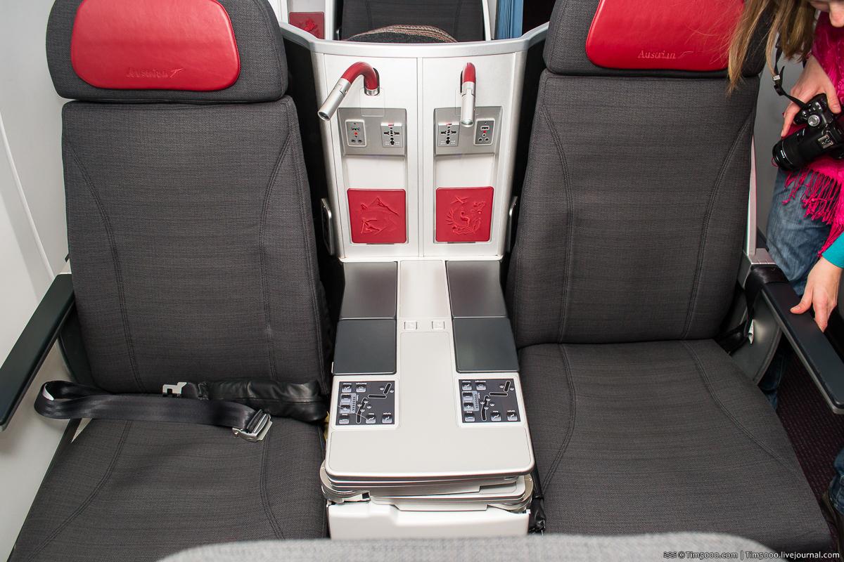 Austrian Airlines Boeing 777: бизнес-класс