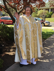 Mother Susan After the Easter Morning Service
