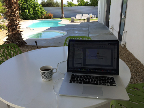 Working in the shade @ Palm Springs