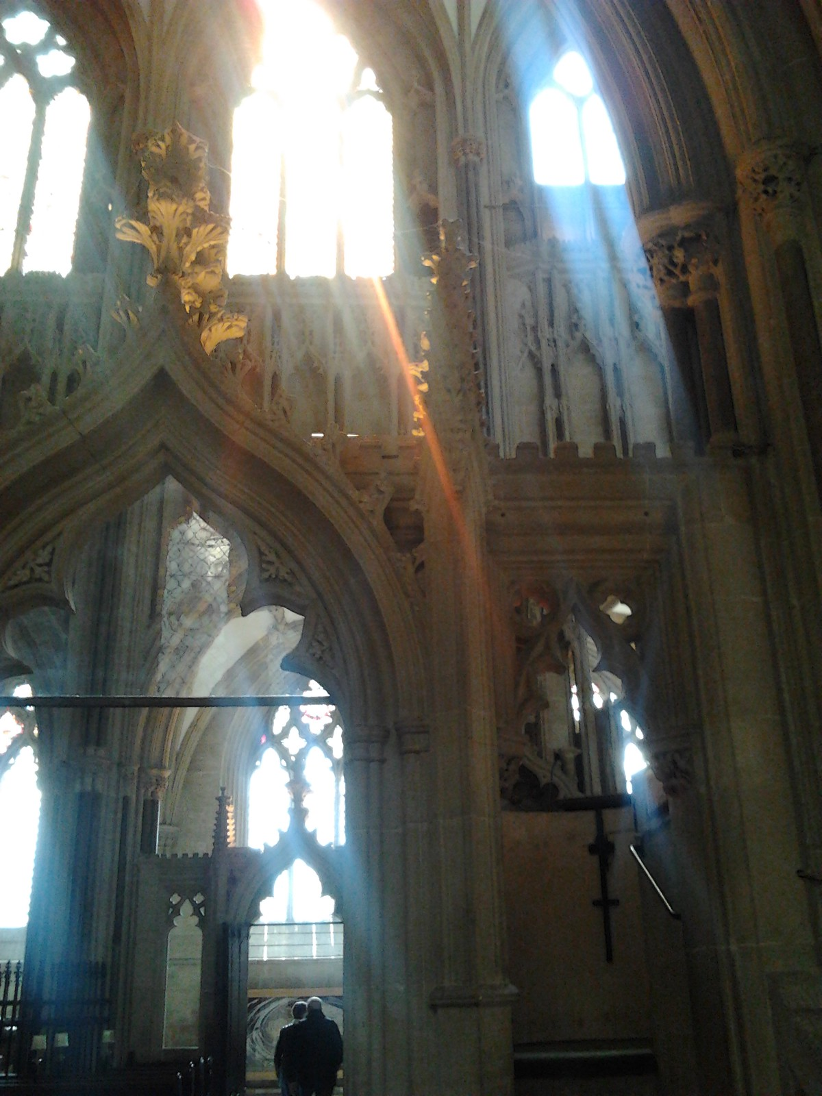 sunlight in Wells cathedral