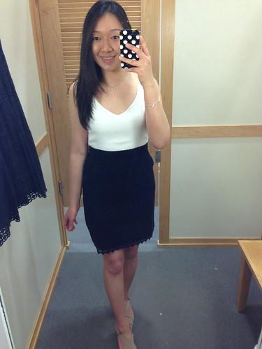 LOFT Lace trim tank dress