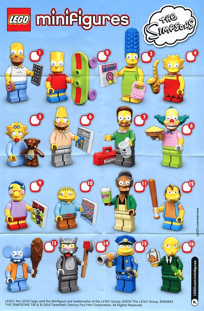 71005 LEGO Minifigures The LEGO Simpsons Series ins01