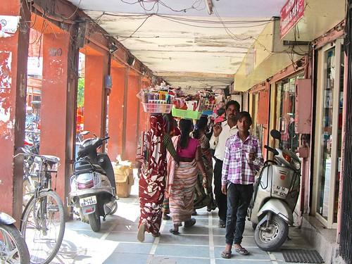 bustling walkways of Jaipur