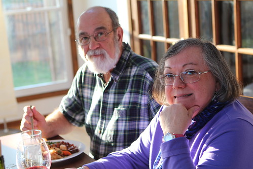 Grandpa and Nana at Passover Dinner